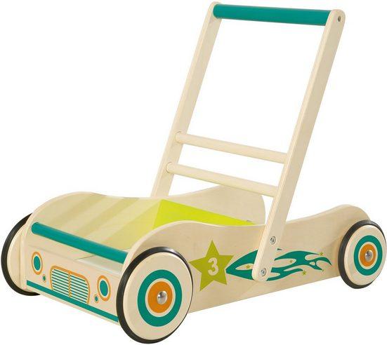 roba® Lauflernwagen, aus Holz mit Bremse