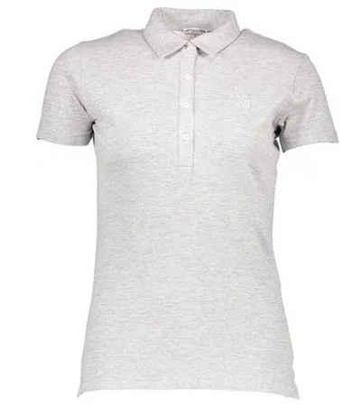 U.S. Polo Assn Poloshirt »U.S. POLO ASSN. Kurzarm Shirt stilsicheres Damen Polo-Hemd Freizeit-Shirt Grau«