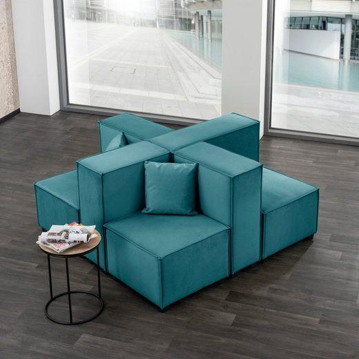 Max Winzer® Wohnlandschaft »MOVE«, Set, Sofa-Set 05 aus 8 Sitz-Elementen, inklusive 2 Zierkissen, individuell kombinierbar