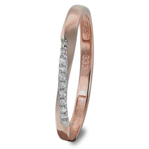 GoldDream Goldring »GDR523E60 GoldDream Gold Ring Gr.60 Swing« (Ringe), Damen Ring Swing, 60 (19,1), aus Echtgold, 333er Roségold, Farbe: rosé, weiß