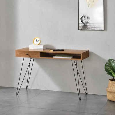 en.casa Konsolentisch, »Munkfors« Schreibtisch 75x115x48cm Highboard Hairpin Beine
