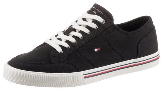 Tommy Hilfiger »CORE CORPORATE TEXTILE SNEAKER« Sneaker mit gestickter Logoflag