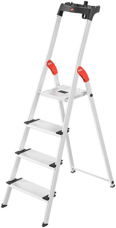 Hailo Stehleiter »L80 ComfortLine«, Alu-Sicherheits-Stehleiter 4 Stufen
