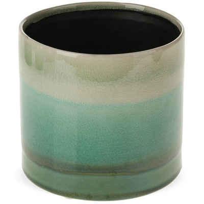 matches21 HOME & HOBBY Blumentopf »Übertopf mit Farbverlauf grün Keramik« (1 Stück)