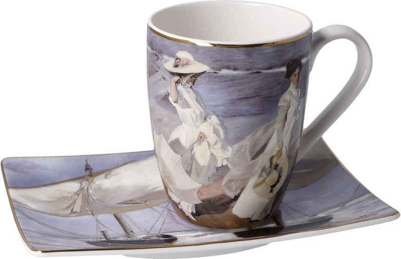 "Goebel Tasse »Künstlertasse Joaquin Sorolla - ""Spaziergang am Strand""«, Fine China-Porzellan, 350 ml"