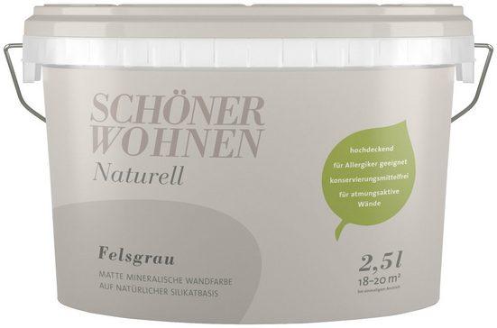SCHÖNER WOHNEN FARBE Wand- und Deckenfarbe »Naturell Felsgrau«, 2,5 l