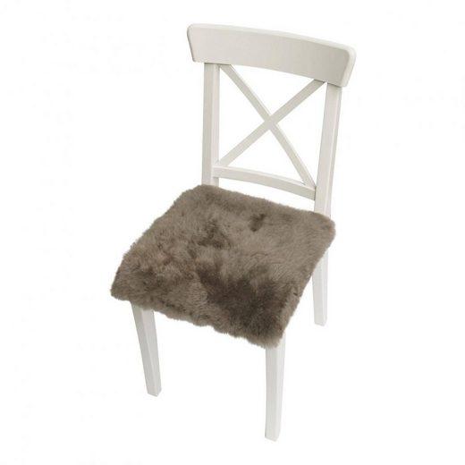 Hollert Sitzkissen, Lammfell Sitzkissen Accessoire mit Antirutschbeschichtung