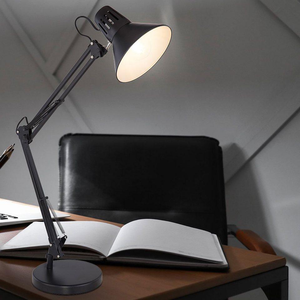 Nacht Tisch Klemm Leuchte schwarz Schlaf Zimmer Beleuchtung Flexo Spot Lampe