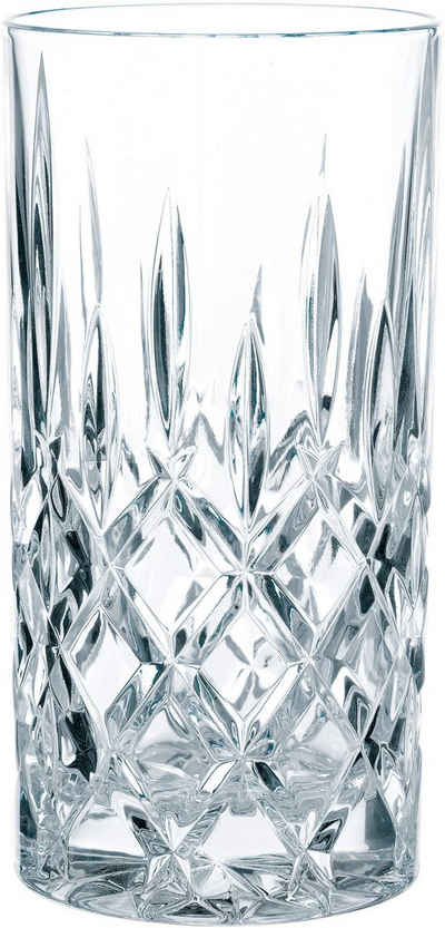 Nachtmann Longdrinkglas »Noblesse«, Kristallglas, mit edlem Schliff, Made in Germany, 395 ml, 6-teilig