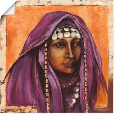 Artland Wandbild »Beduinin II mit auberginefarbenem Tuch«, Frau (1 Stück), in vielen Größen & Produktarten - Alubild / Outdoorbild für den Außenbereich, Leinwandbild, Poster, Wandaufkleber / Wandtattoo auch für Badezimmer geeignet