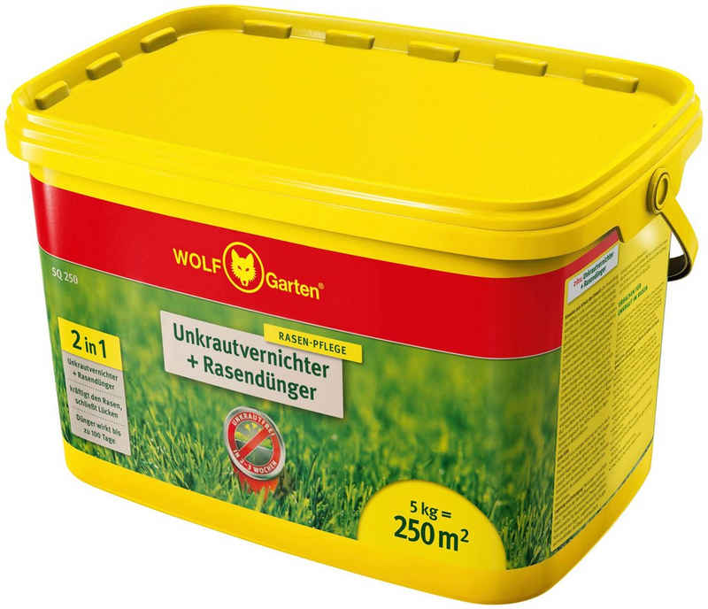 WOLF-Garten Rasendünger »SQ 250 mit Unkrautvernichter«, Granulat, 5 kg