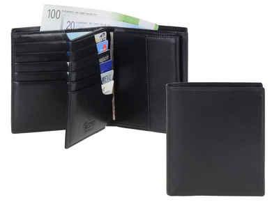 Esquire Geldbörse »Premium«, Geldbeutel mit Scheinfächern auch aus Leder, Herrenbörse, Portemonnaie, mit RFID Schutz, 12 Kartenfächer