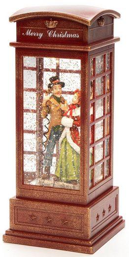 KONSTSMIDE LED Laterne, LED Telefonzelle Charles Dickens Style, wassergefüllt