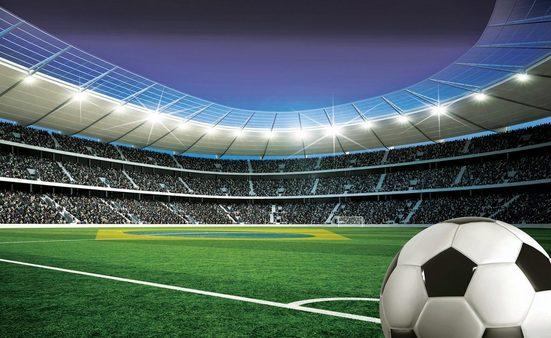 Consalnet Fototapete »Fußballplatz Stadion«, glatt, Motiv