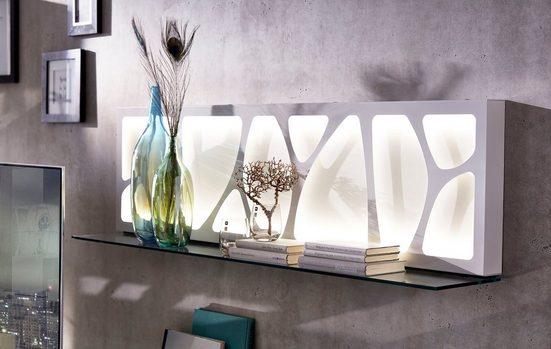 LEONARDO Wandpaneel »CUBE«, mit Genetics, wahlweise mit Beleuchtung, Breite 142 cm