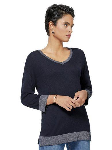 creation L V-Ausschnitt-Pullover