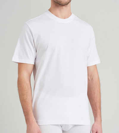 Schiesser T-Shirt mit Rundhals-Ausschnitt, formstabil, verstärkte Halsnaht