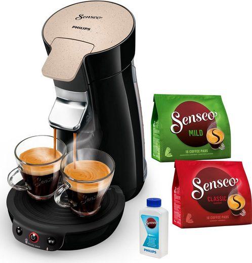 Senseo Kaffeepadmaschine SENSEO® Viva Café Eco HD6562, besonderer Kaffeegenuss mit Liebe zur Umwelt, inkl. Gratis-Zugaben im Wert von 14,- UVP