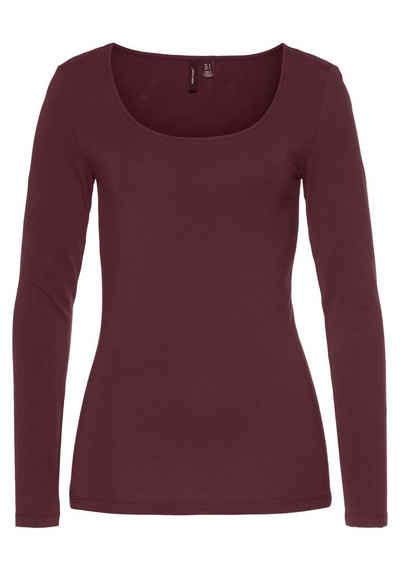 Vero Moda Langarmshirt »VMMAXI« aus Bio-Baumwolle