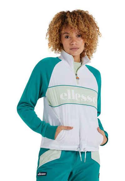Ellesse Trainingsjacke »Ellesse Trainingsjacke Damen COACOA TRACK TOP White Weiß Grün«