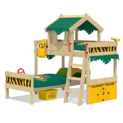Wickey Kinderbett »Etagenbett Crazy Jungle, Plane Hausbett, 90 x 200 cm Hochbett«
