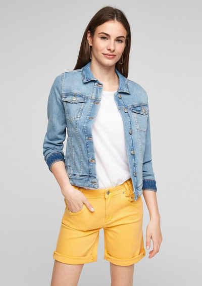 s.Oliver Jeansshorts »Slim: Gefärbte Denim-Shorts« Label-Patch, Garment Dye