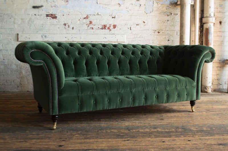 JVmoebel Chesterfield-Sofa, Chesterfield 3 Sitzer Garnitur Design Sofa Couch 225 cm