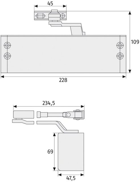 ABUS Türschließer »7603 B«, für Haustüren und Wohnungs- Abschlusstüren