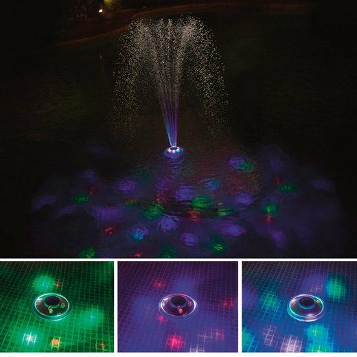 BESTWAY Poolbeleuchtung LED mit Wasserfontäne, 18,5 cm
