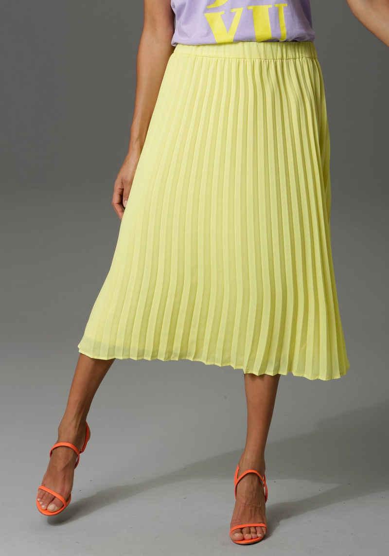 Aniston CASUAL Plisseerock in trendiger Farbpalette