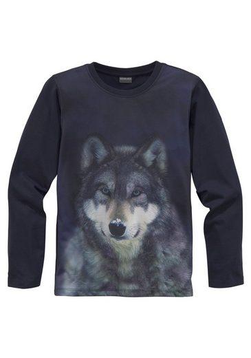 KIDSWORLD Langarmshirt »WOLF«
