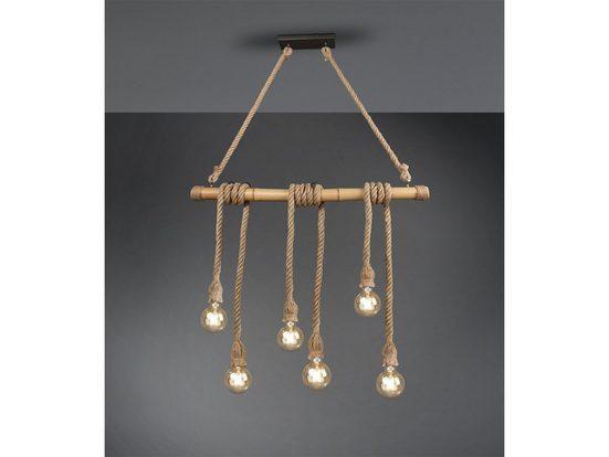 TRIO LED Pendelleuchte, Industrial-Style Seil-Lampe Decken-Leuchte Tau Strick Vintage Mehrflammig Industrie-Lampe Esszimmer-Lampe für über Esstisch Kücheninsel Couchtisch