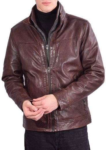 RICANO Lederjacke »Kai« Inklusive abtrennbarem Textileinsatz, hochwertiges Lamm Leder