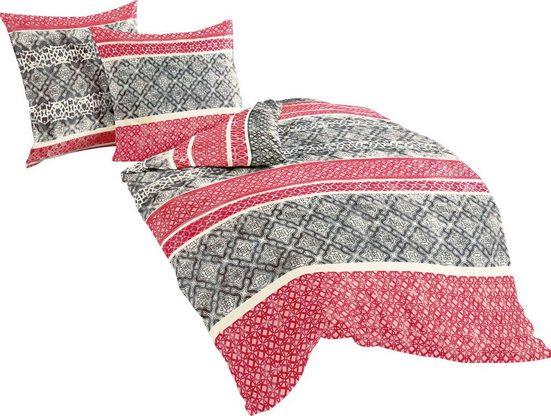 Bettwäsche »Red Pattern«, BIERBAUM, mit Bordüren