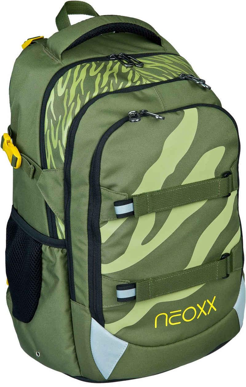 neoxx Schulrucksack »Active, Ready for Green«, aus recycelten PET Flaschen