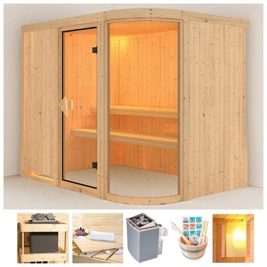 KARIBU Sauna »Parima 2«, 196x151x198 cm, 9 kW Ofen mit int. Steuerung