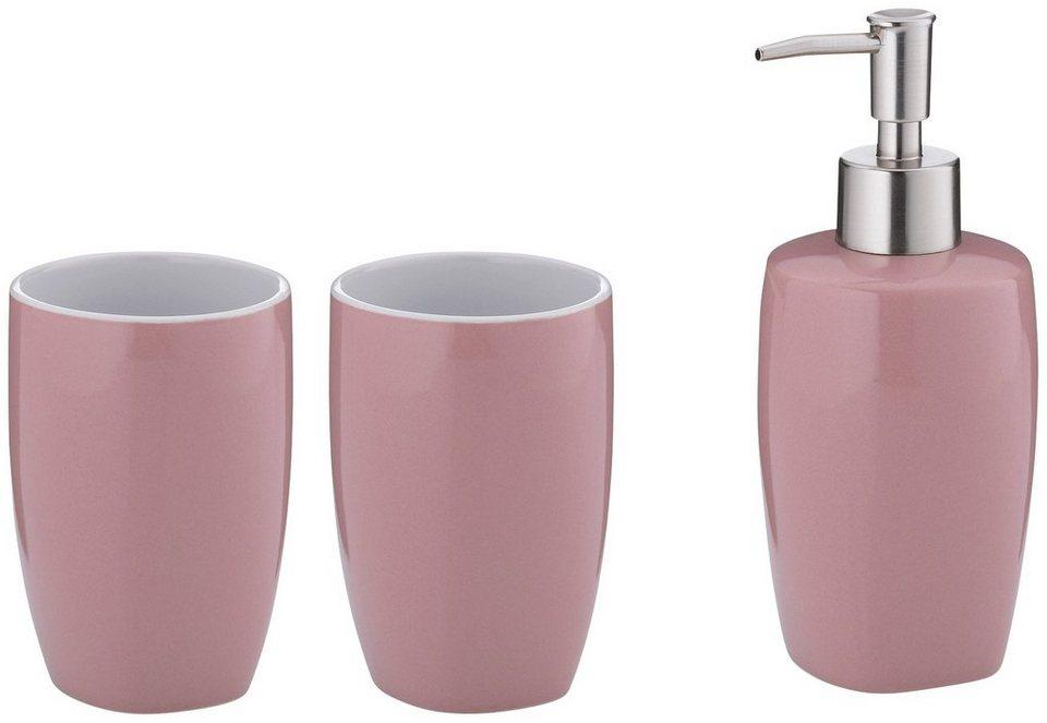 KELA Set: Bad-Accessoire-Set »Lindano«, Keramik, 3tlg. online kaufen | OTTO