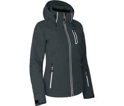Bergson Skijacke »NICE« Damen Skijacke, wattiert, 20000 mm Wassersäule, Normalgrößen, dunkel grau