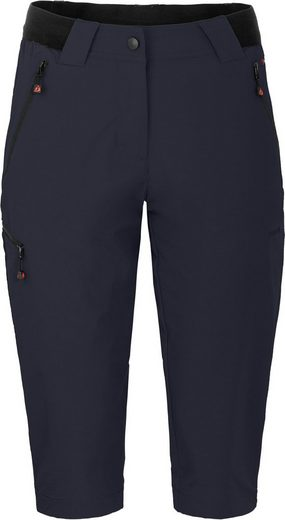 Bergson Outdoorhose »VIDAA COMFORT Capri (slim)« leichte 3/4 Damen Wanderhose, Normalgrößen, Nacht blau