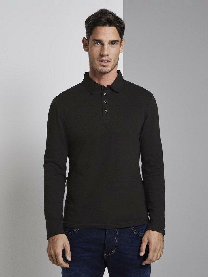 tom tailor -  Poloshirt »Langarm Jacquard-Poloshirt«