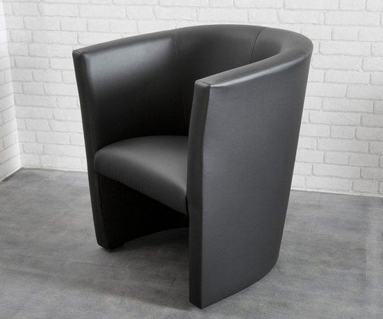 DELIFE Cocktailsessel »Goya«, Schwarz Cocktailsessel Lounge Möbel