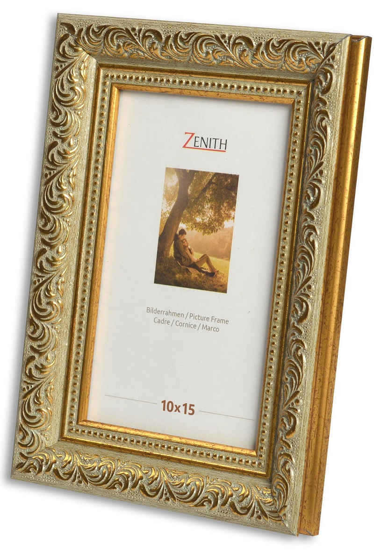 Victor (Zenith) Bilderrahmen »Rubens«, 10x15 cm, in grün gold, Leiste: 30x20m, Barock, Echtglas, antiker Bilderrahmen