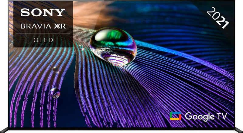 Sony XR-55A90J OLED-Fernseher (139 cm/55 Zoll, 4K Ultra HD, Google TV, Smart-TV, Android TV, 2021 Modell)