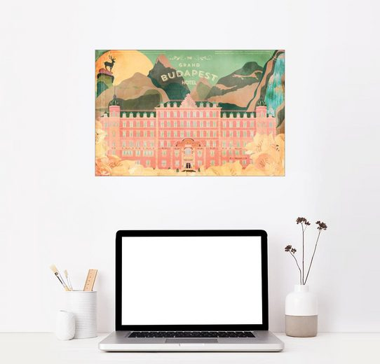 Posterlounge Wandbild, Premium-Poster Das Grand Budapest Hotel