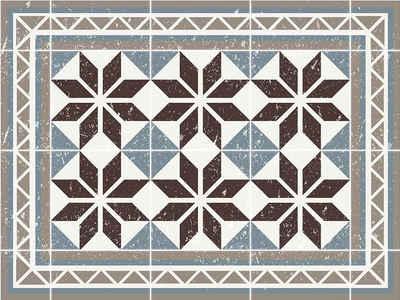 Platzset, »Tischset, Platzset abwaschbar - Blumen Mosaik - 4 Stück aus erstklassigem Vinyl (Kunststoff) 40 x 30 cm«, Tischsetmacher, (4-St)