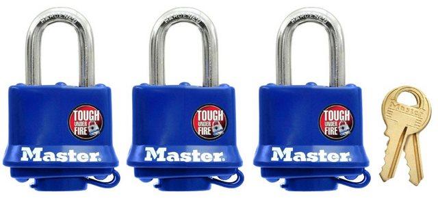 Master Lock Vorhängeschloss, Sicherheitsklasse 5, (Set, 3-tlg)