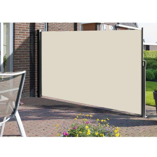 SONGMICS Seitenmarkise »GSA185G GSA185E GSA185G02 GSA185T02 GSA205G GSA205E GSA165E GSA165G GSA165G02« Sonnenschutz, 1,6 x 3,5 m (H x L), für Balkon, Terrasse und Garten, beige