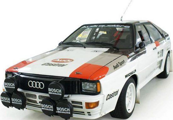 Tamiya Modellauto »RC Elektro Auto Audi Quattro Rally A2 (TT-02) Bausatz 1:10 Tamiya«