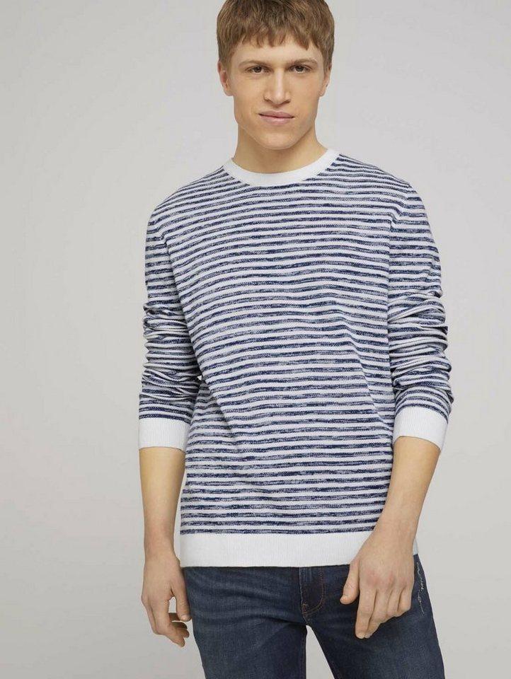 tom tailor denim -  Strickpullover »gestreifter Pullover«