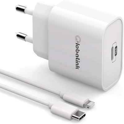 GlobaLink »GlobaLink 30W iPhone Schnelladegerät mit USB auf Lightning Kabel« Schnelllade-Gerät (30 Watt mA, Lightning, USB Typ C, 1-tlg., USB Ladegerät, MFI-zertifiziert- 2M USB C zu Blitzkabel 30W USB-C Netzteil Schnellladung PD 3.0 Kompatibel mit iPad iPhone Se 2020 11 11 Pro Max XR X XS 12 12mini Pro max)